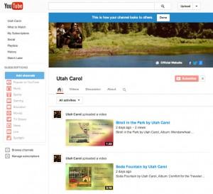 UtahCarol on YouTube